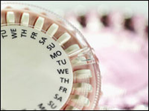A packet of birth control pills.