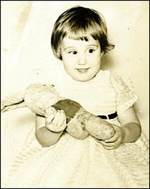 Susan Barry at age 2.