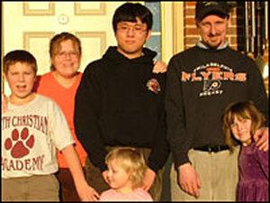 Jason Ryu with the Myers family