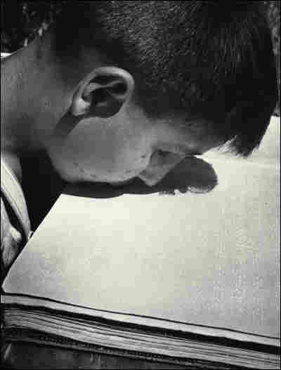 'Blind Boy, Who Lost His Arms in the War, Reading with His Lips'