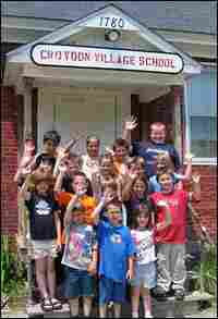 The first, second and third graders of Croydon school, spring 2005.