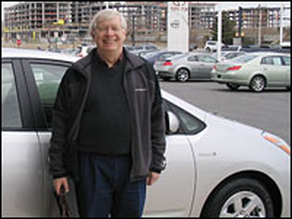 Roy Krebs, 72, picks up his 2006 model Toyota Prius hybrid at a dealership near Washington, D.C. Krebs says even without the any tax incentive he probably still would have purchased a hybrid.