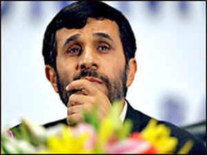 Iranian President Mohamoud Ahmadinejad in Indonesia. Credit: JEWEL SAMAD/AFP/Getty Images.