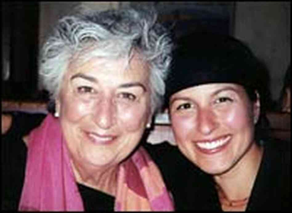 Christina Salas-Porras Cardoza and her mother.