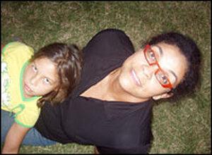 Ellen Sebastian Chang with her daughter Sunim.