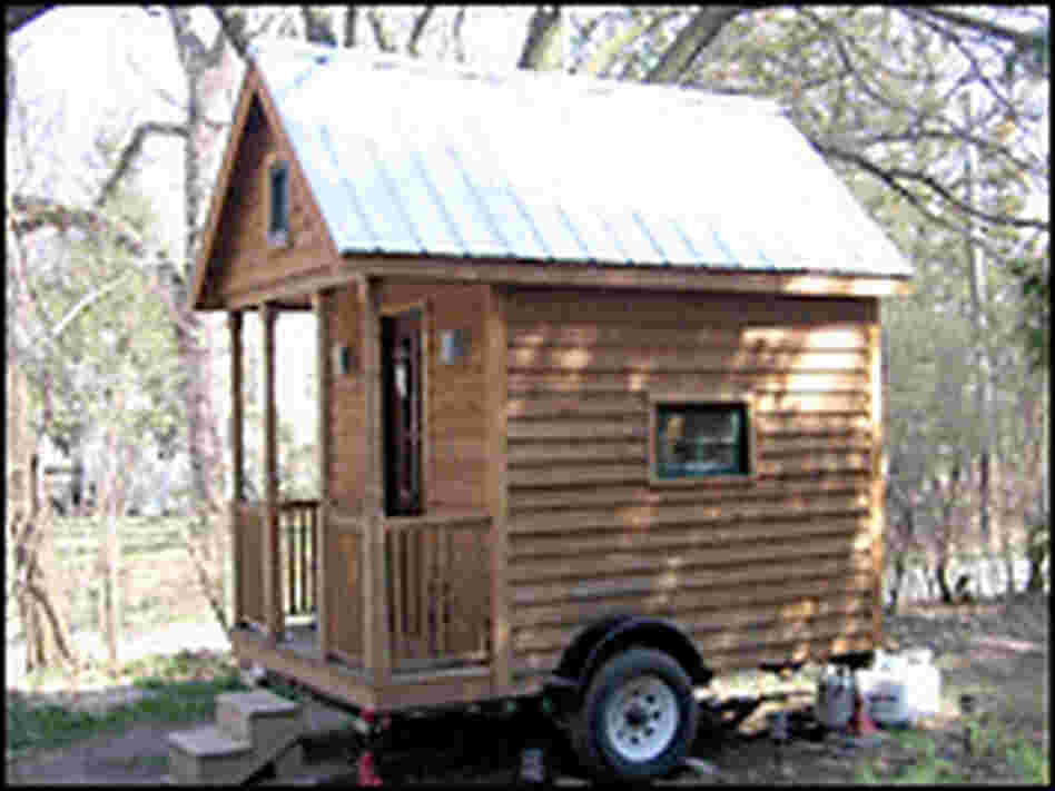 Greg Johnson's extremely small home. Credit: Cheryl Corley, NPR.