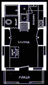 Tumbleweed's Vesica-model floorplan. Credit: Tumbleweed Tiny House Company.