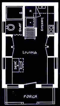 Tumbleweed's Vesica-model floorplan. Credit: Tumbleweed Tiny House Company.