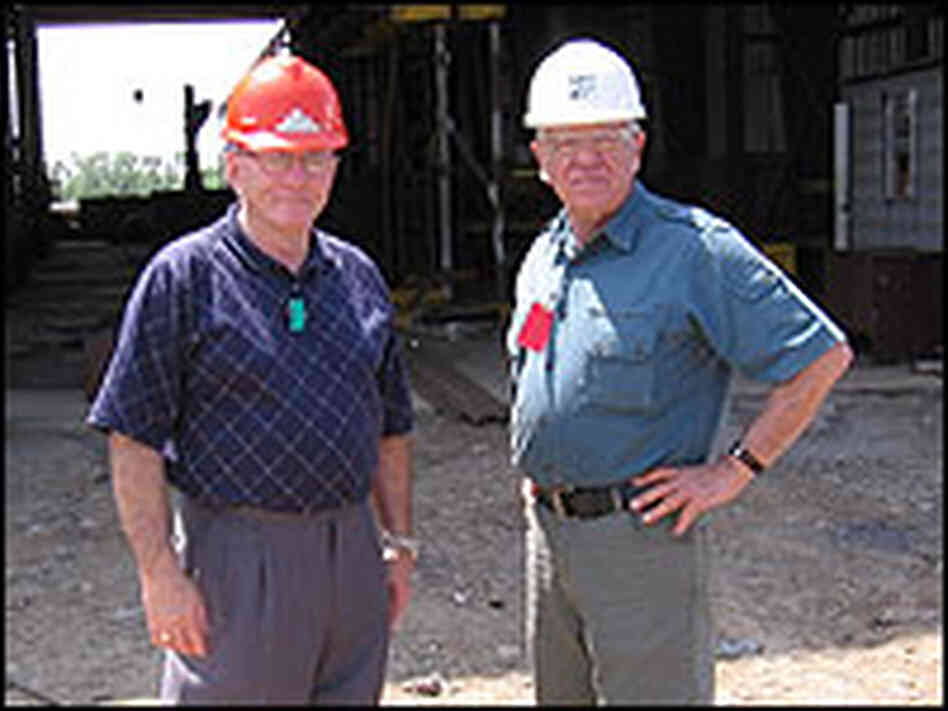 Engineer B.C. Fernandez, left, and Harold Schoeffler, co-founder of Wind Energy Systems Technologies