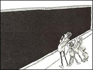 Gazing at 'The Long Chalkboard'