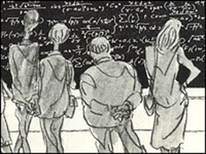 Math problems  on 'The Long Chalkboard'