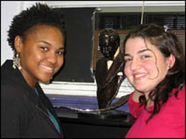 Amanda Fernandez (left) and Sarah Luzietti are seniors at the Duke Ellington School of the Arts in Washington, D.C. Fernandez wants to be an actress; Luzietti aspires to be a professional singer.