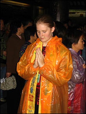 Gillian Siple meditates.
