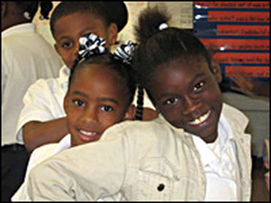 Students at Fischer Elementary School