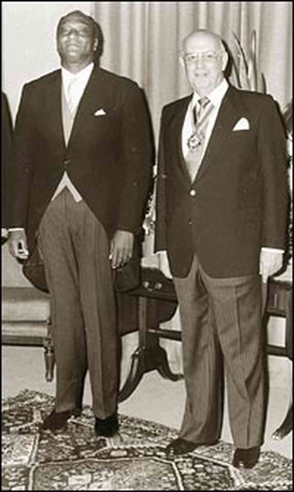 U.S. Ambassador Edward Perkins and South African President P.W. Botha