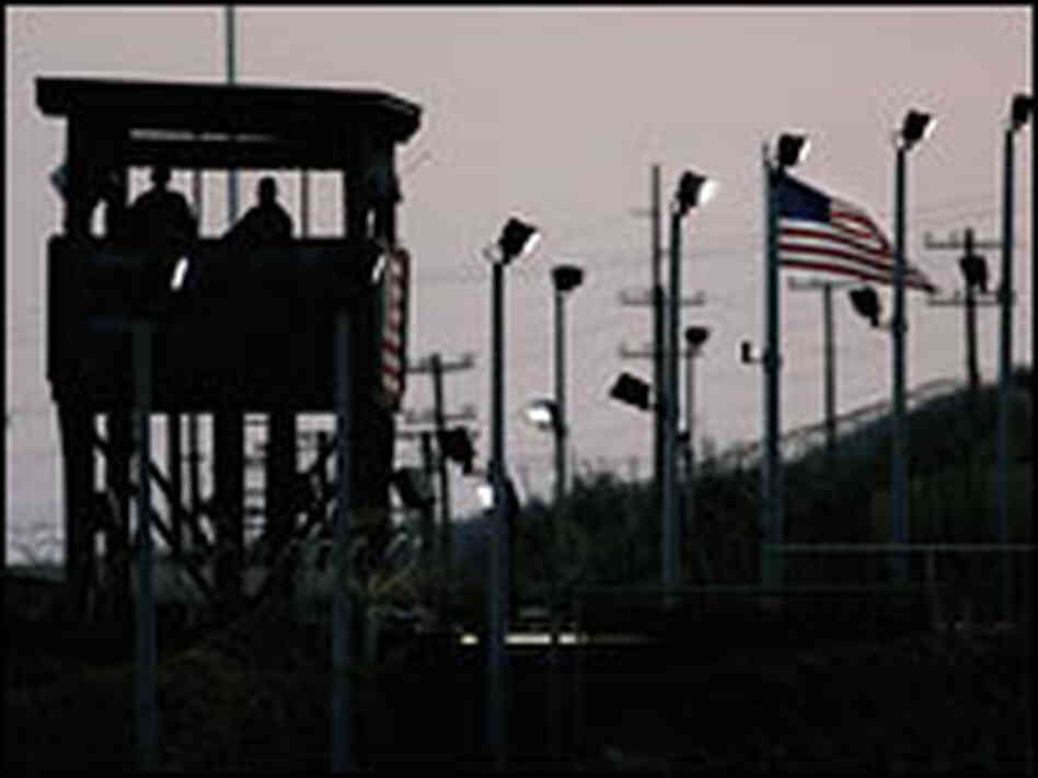 Guard tower at Guantanamo Bay.