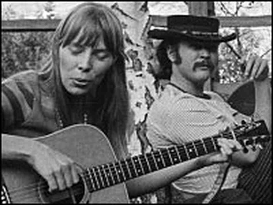 Joni Mitchell plays a song in Cass Elliot's Laurel Canyon backyard