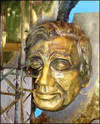 A bronze bust of Fazlur Rahman Khan at the Sears Tower Skydeck