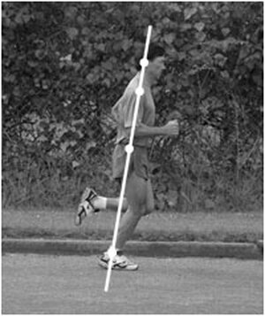 Danny Dreyer demonstrates the alignment for his ChiRunning technique: