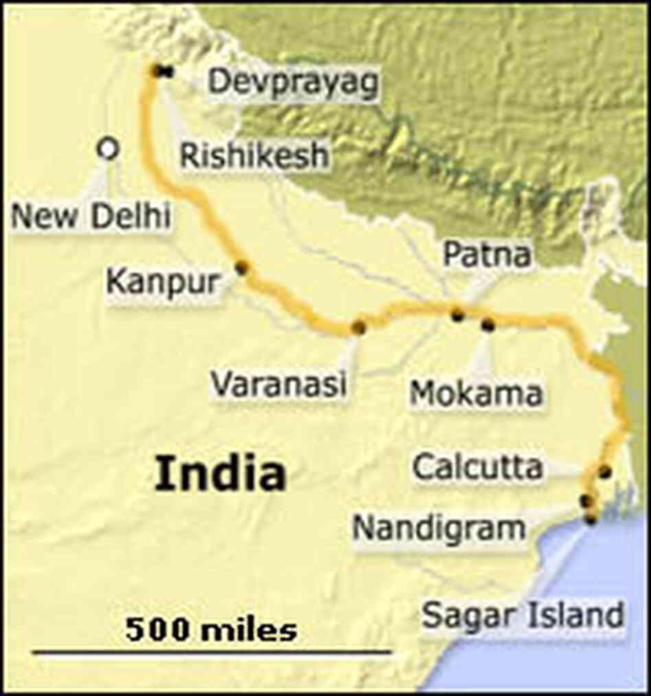 Map of the Ganges Journey