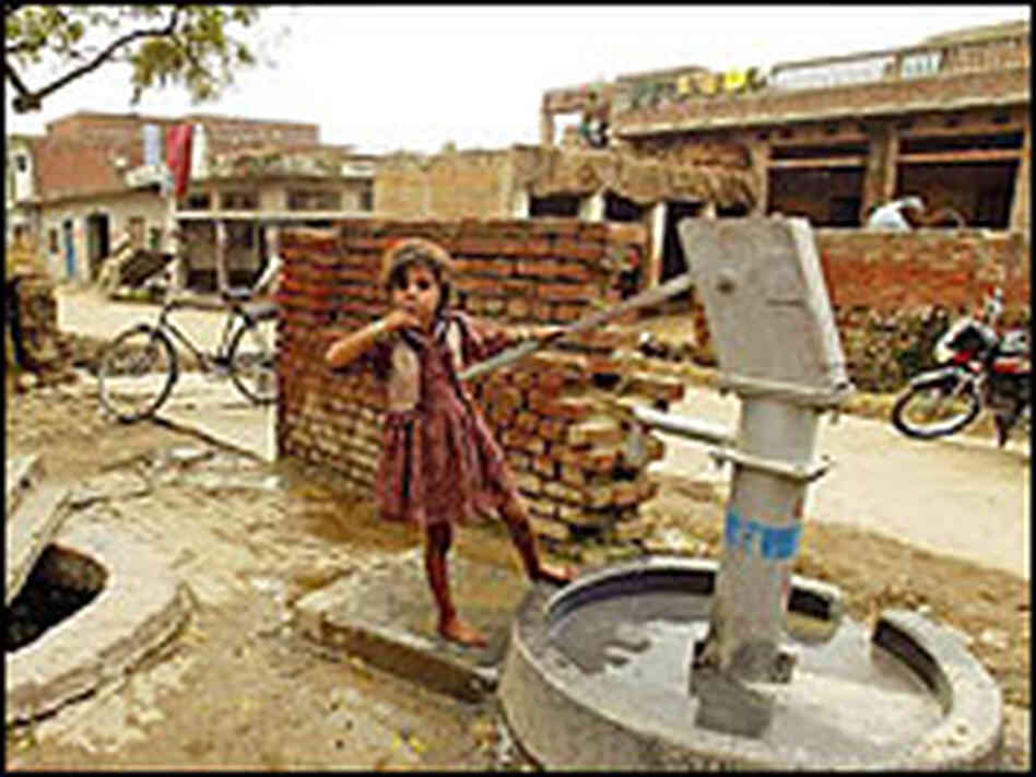 Dirty water contributes to the deaths of  hundreds of thousands of children in Kanpur
