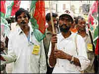 Bengali demonstrators in Calcutta