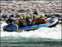 Members of India's middle class escape city living on white-water rafting trips on the Ganges