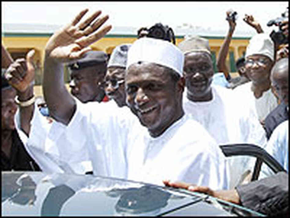 Nigerian presidential candidate for the ruling People's Democratic Party (PDP) Umaru Yar'Adua