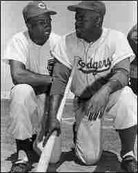 Frank Robinson and Jackie Robinson