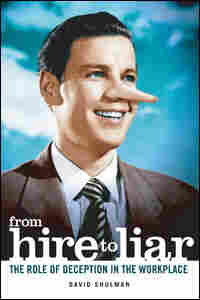 "Book Cover of ""From Hire to Liar"" showing man in business suit with Pinocchio nose."