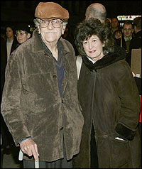 Kurt Vonnegut and his wife in 2006