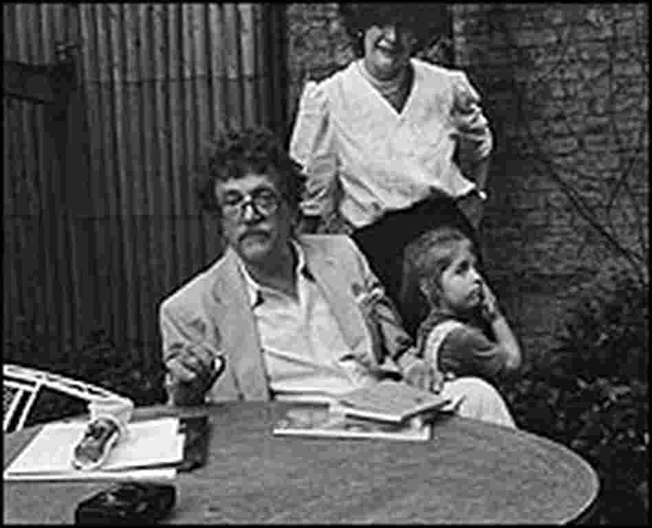 Kurt Vonnegut, Jill Kremenetz, and their daughter Lily