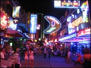 Soi Cowboy, one of Bangkok's famous red light districts, is a major draw for tourists.