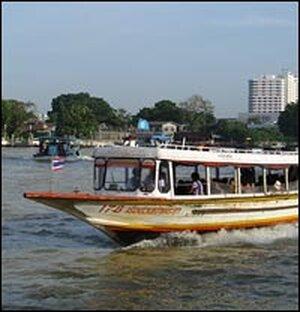 Boat on the Chao Phraya River.