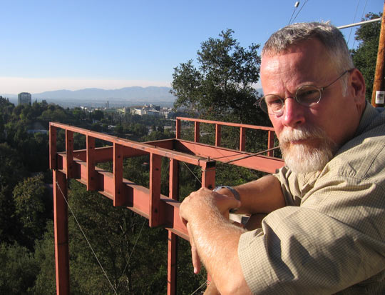 Michael Connelly, in the Hollywood Hills.