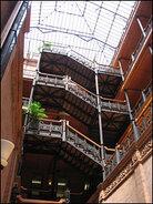 The interior of the Bradbury Building