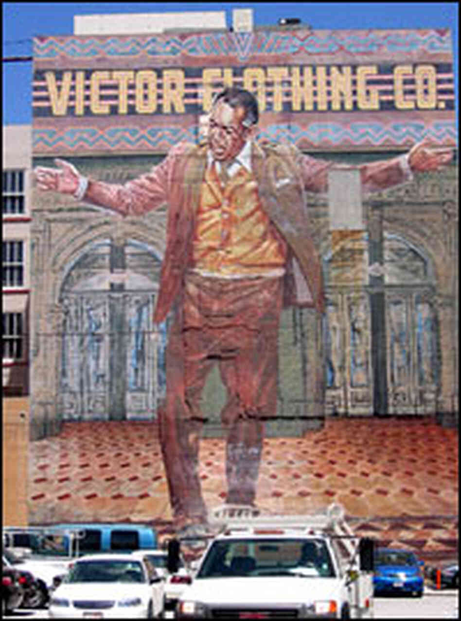Real people inhabit michael connelly 39 s fictional l a npr for Anthony quinn mural