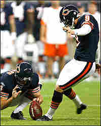 Kicker Robbie Gould of the Chicago Bears.