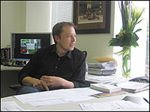 Elon Musk in his El Segundo, Calif., office. Before producing electric cars and starting a rocket company, Musk made his mark in Silicon Valley by helping build the online payment system, PayPal.