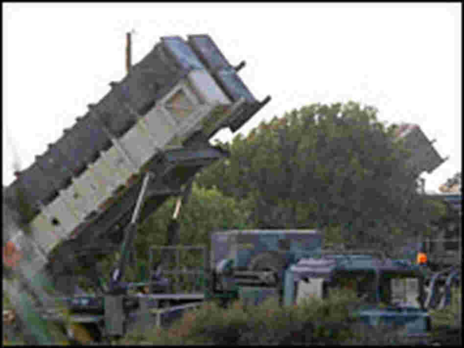 Anti-aerial Patriot missile batteries