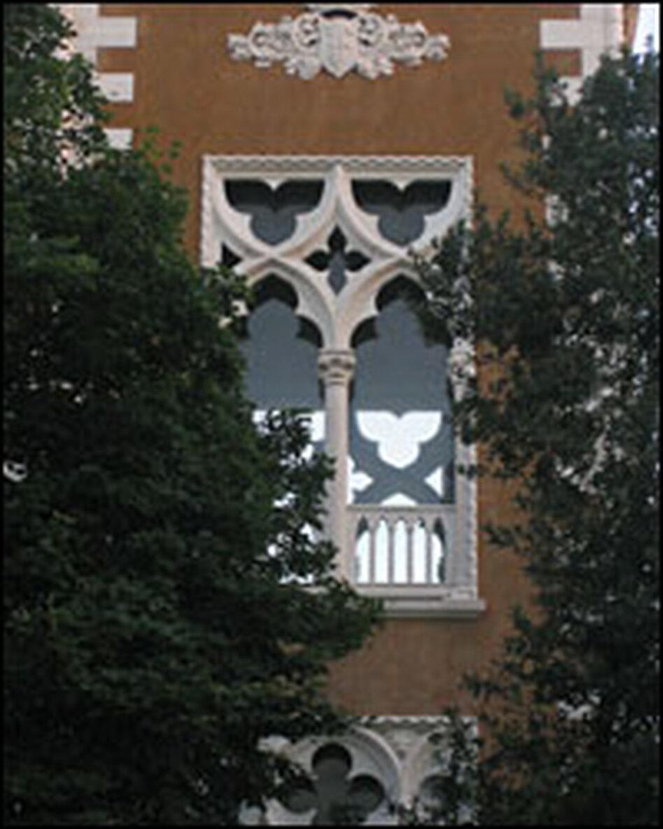 This Venetian window bears the mark of centuries of East-West cultural cross-fertilization.