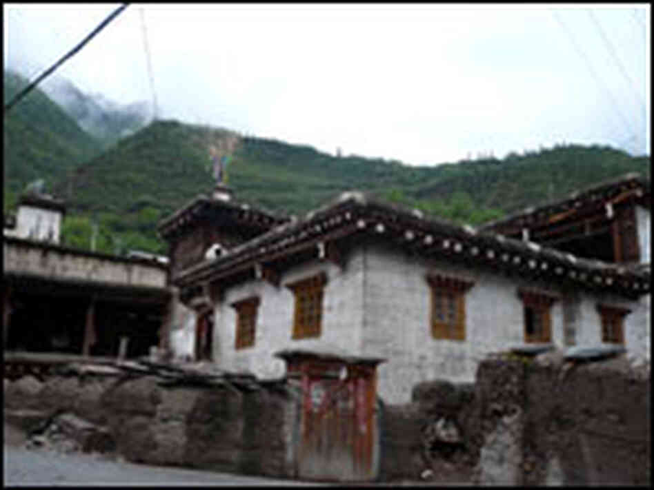 The houses in Mingyong village are built along traditional lines.