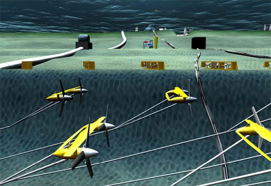 A series of underwater turbines could harness the Gulf Stream's energy, researchers say.