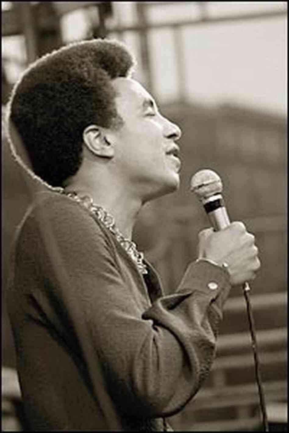 Smokey Robinson performing, ca. 1972.