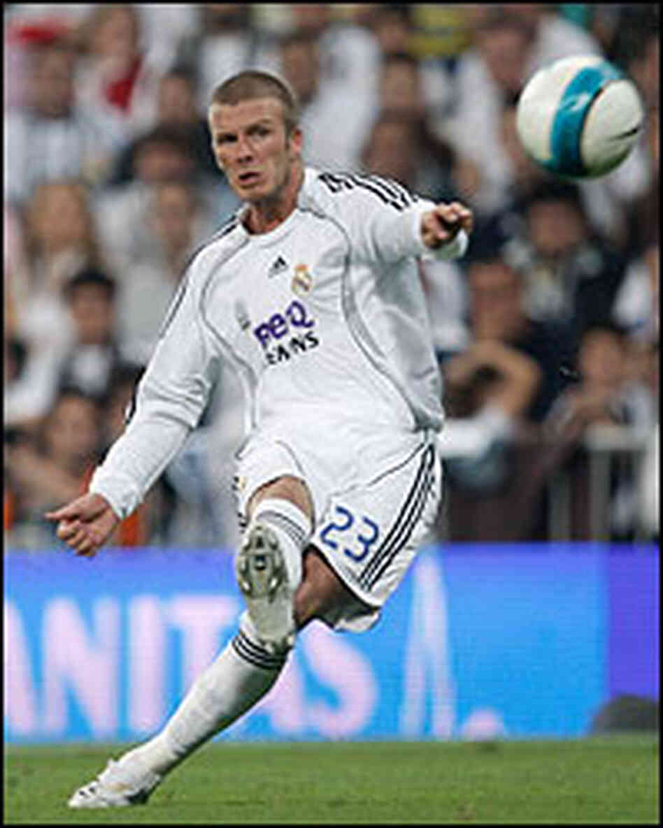 Beckham Comes Kicking; Is America Ready? : NPR