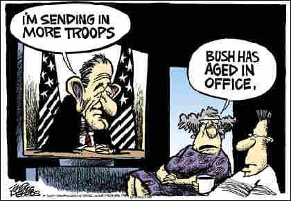 'Bush has aged in office.'