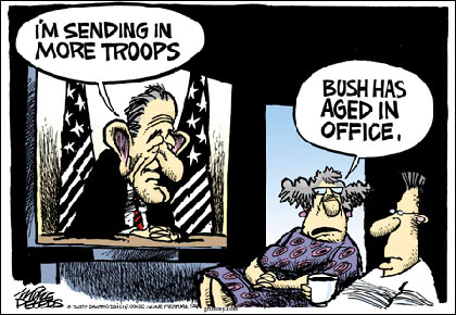 'Bush has aged in office.'