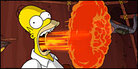 Homer Simpson breathes fire