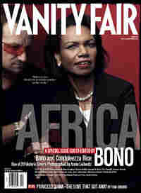 Bono and Secretary of State Condoleezza Rice on the cover of 'Vanity Fair'