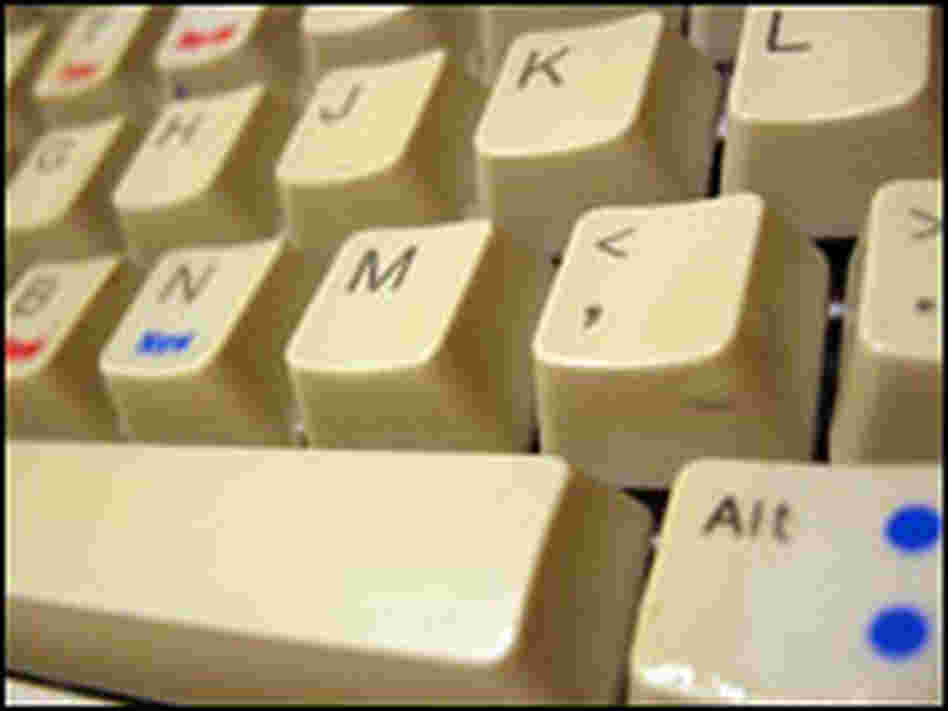 Nell Boyce's clean keyboard after the experiment.